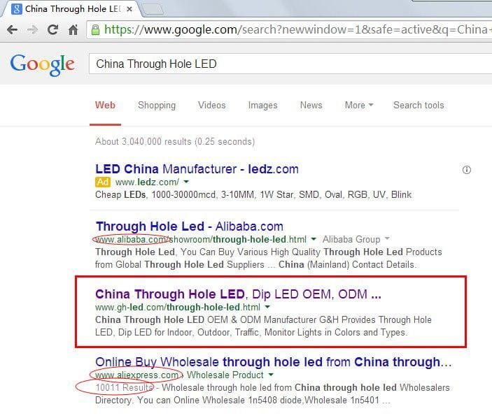 LED英文网站上线11天谷歌排名大提升