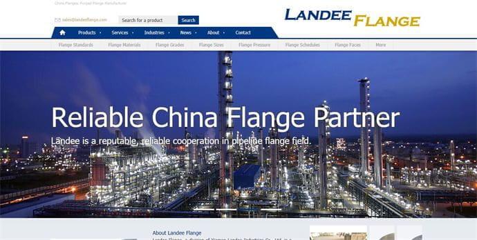 外贸公司网站制作案例: 厦门兰地法兰有限公司