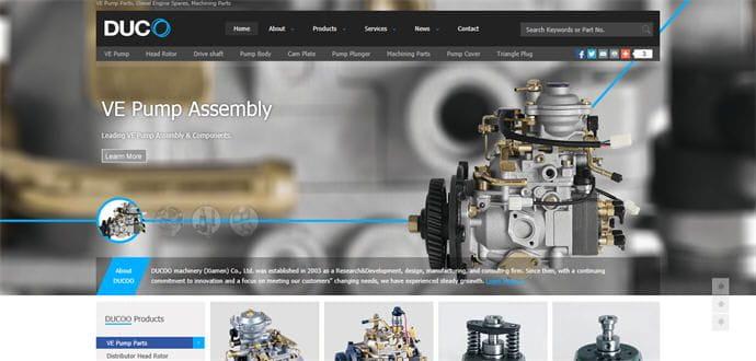 外贸网站制作案例: 大科机械(厦门)有限公司