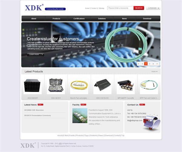 外贸网站建设案例:惠州讯达康通信设备有限公司