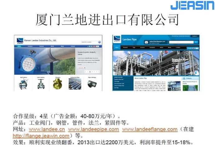 外贸企业网站SEO营销推广服务行业案例