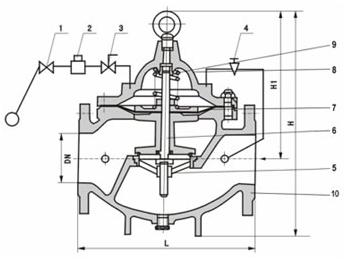 106X Solenoid Control Float & Lever Valve Structure