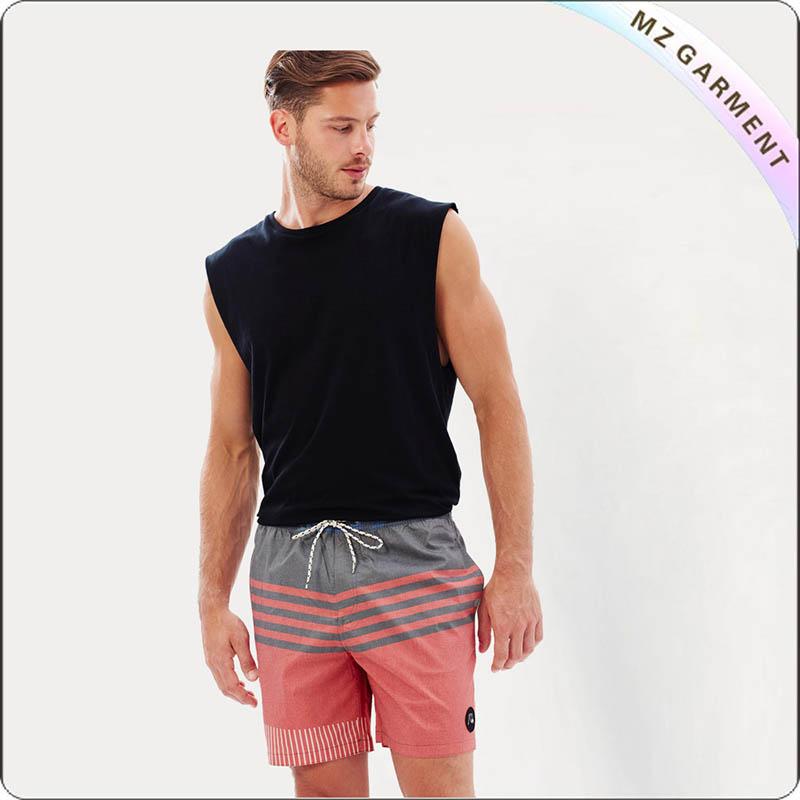 Men Side Pocket Beach Shorts