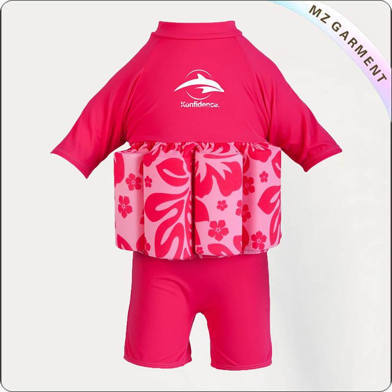 Kids Shocking Pink Flotation Suit