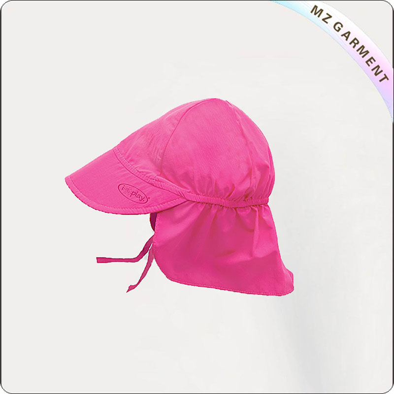 Kids Aubergine Flap Hat