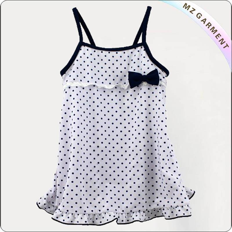 Kids Dotted Swimming Dress
