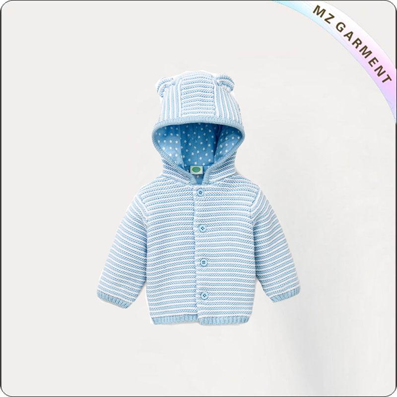 Boys Azure Stripe Knit Jacket