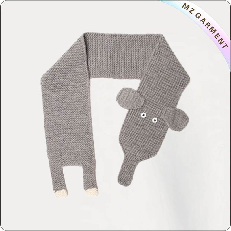 Boys Elephant Knitting Scarf