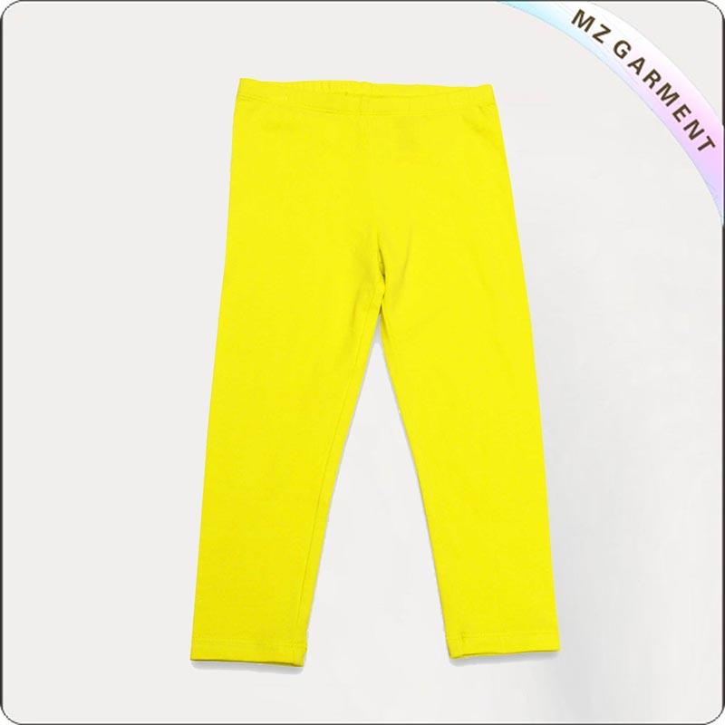 Girls Eco Friendly Lemon Yellow Leggings