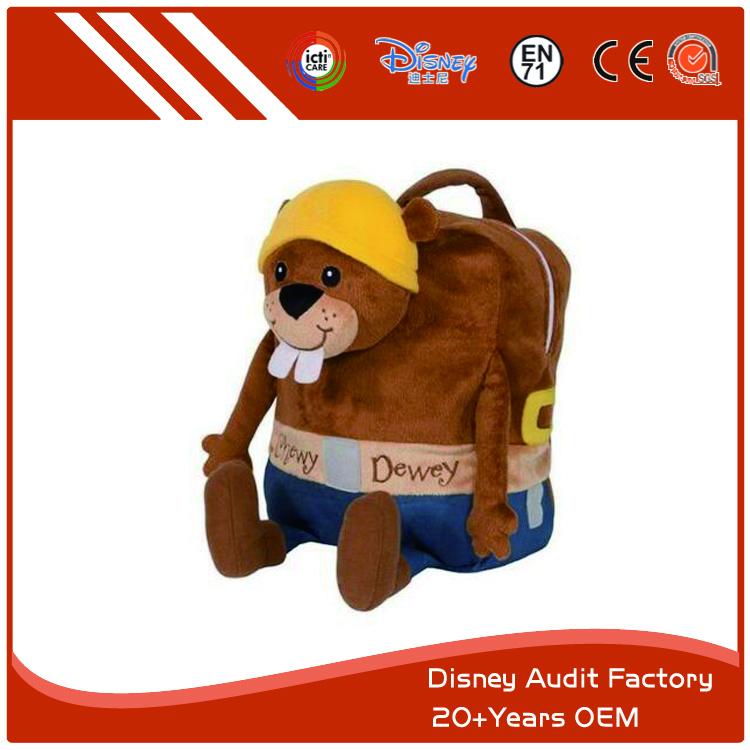 Plush Mole Backpack for Children, 45cm, Printing Pattern