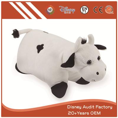 Custom Cow Plush Throw Pillow Screen Printing on Fabric