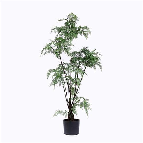 Faux Tropical Ferns Bonsai, Plastic Base, 120CM