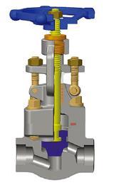 ASTM A105N截止阀,1英寸,800磅级,对接焊接,NPT
