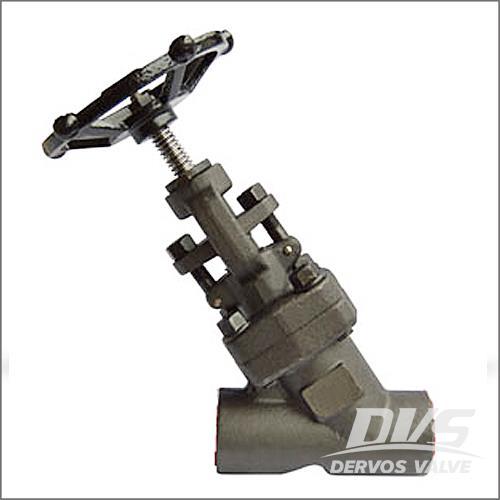 Y型锻造截止阀,ASTM A105N, CL800, API 602, ASME B16.34
