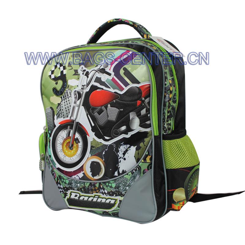 Racing Motorcycle Design Bookbag ST-15TR01BP