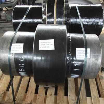 ASTM A105 Isolating Joint ,300 LB, 20 INCH, ANSI B16.5 Butt welding, Pipe DN 16Inch Sch 80 API 5L, Gr.B ASME B36.10M