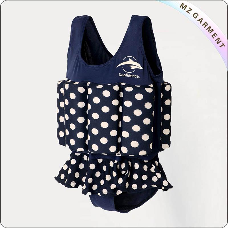 Girls' Dot Floating Swimwear