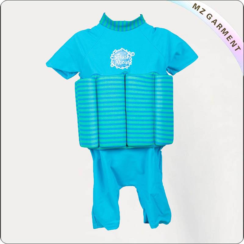 Kids Blue Stripes Adjustable Floating Swimwear