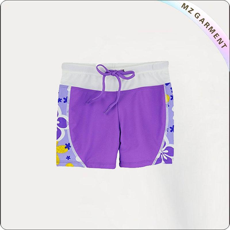 UPF 50+ Purple Girls' Hipsters