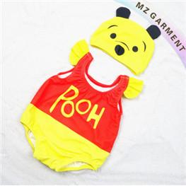 Baby Winnie the Pooh Bathing Suit, Chlorine & UV Resistant, XS-XL