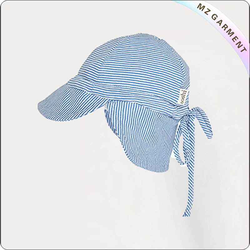 Solid Blue Baby Flap Cap