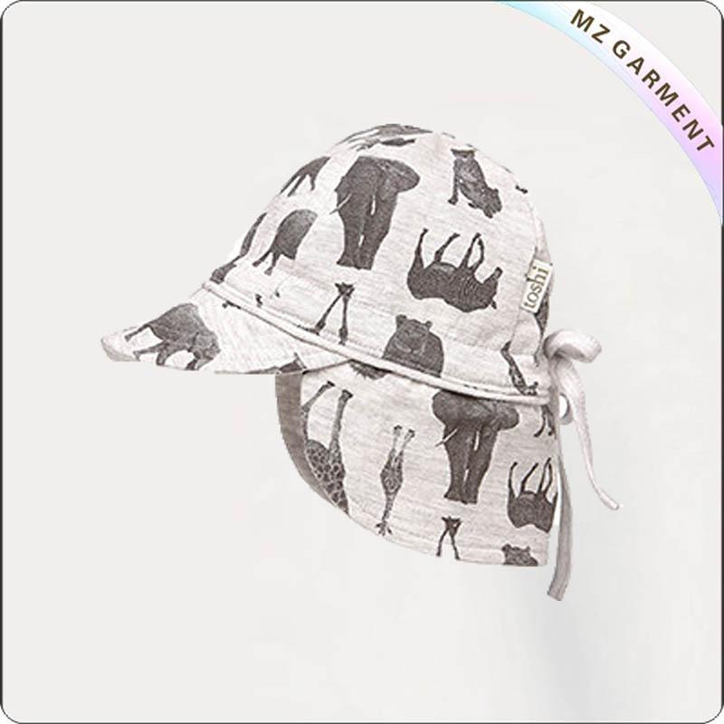 Zoo Baby Flap Cap