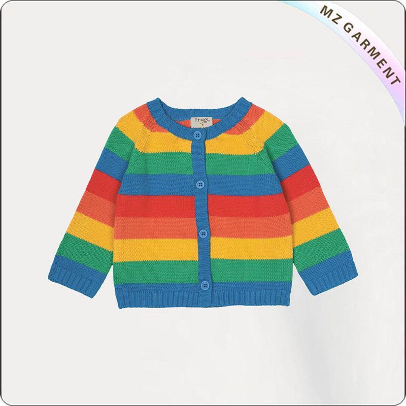 Girls' Rainbow Cardigan
