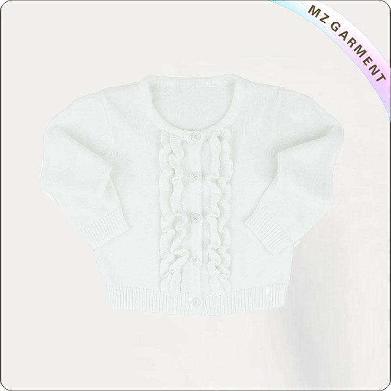 Girls' White Cardigan