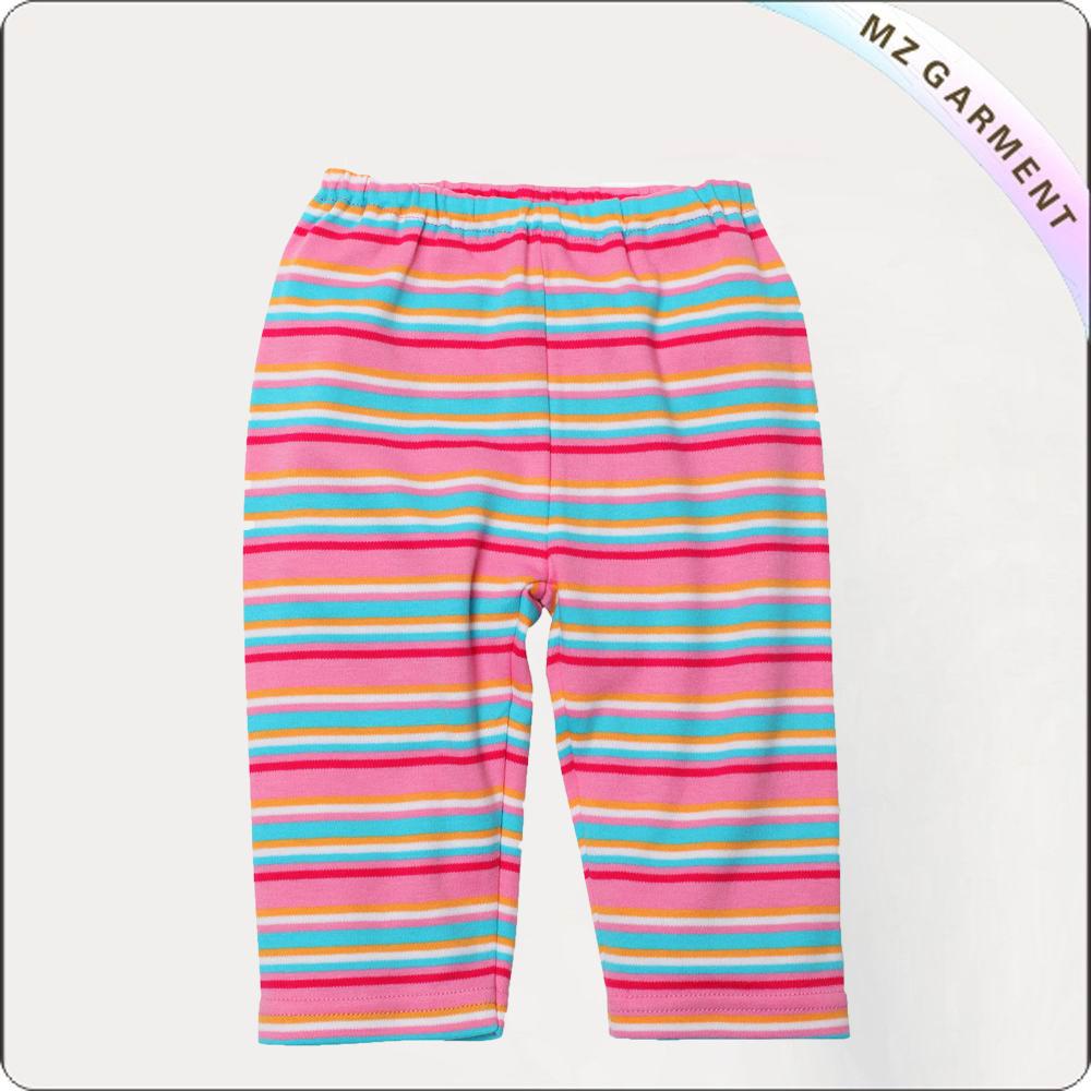 Hot Pink Pull-On Multi-Stripe Pants