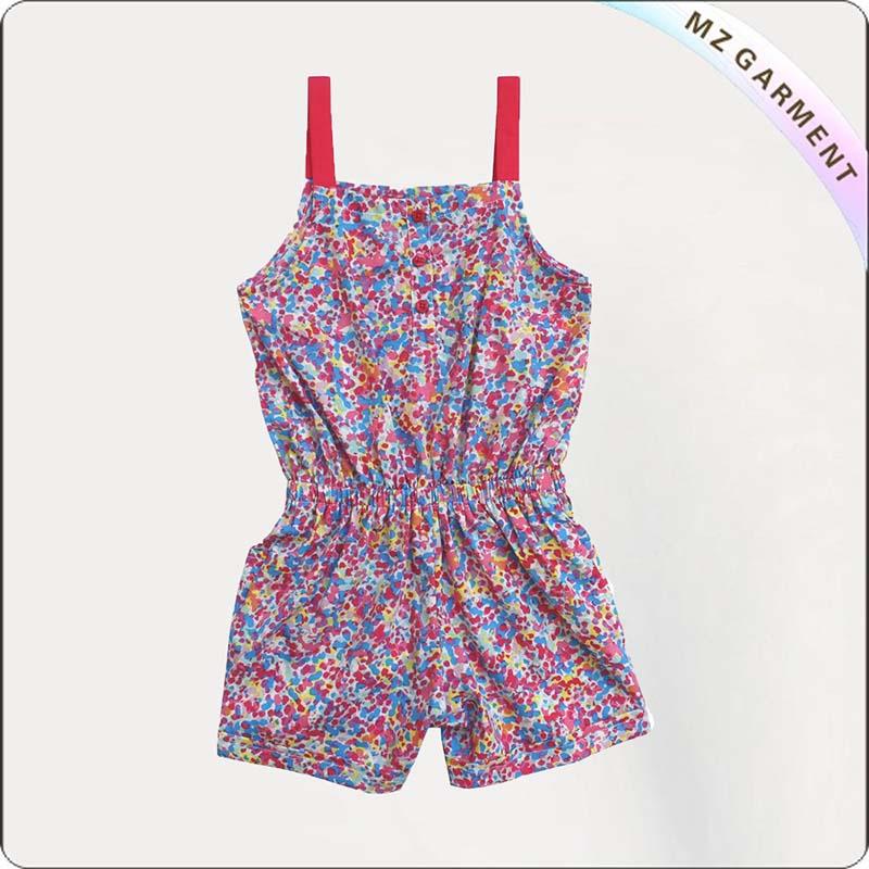 Floral Print Shorts Length Playsuit