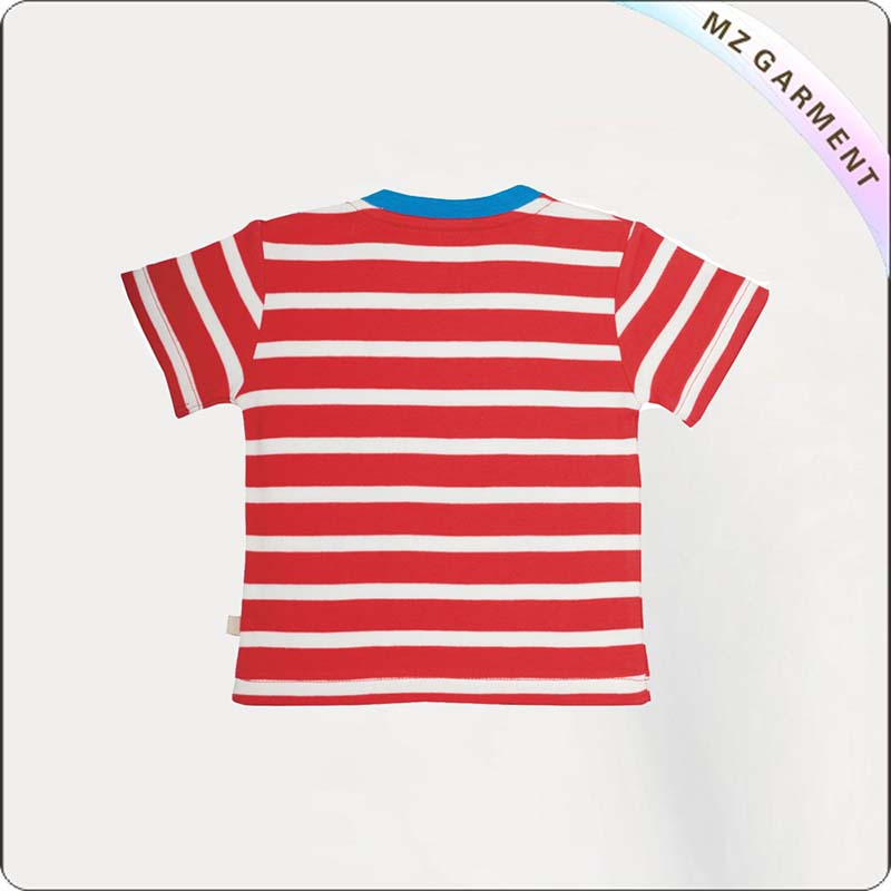 Kids Dolphin Striped Tee Shirt