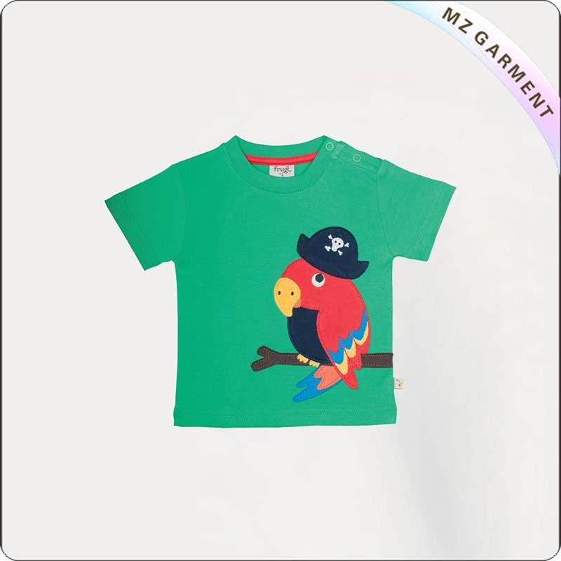 Kids Parrot Printed Tee Shirt