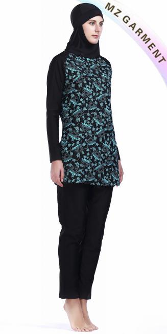 Burkini Swimwear, Nylon, Spandex Materials, Custom Design, XS-XL