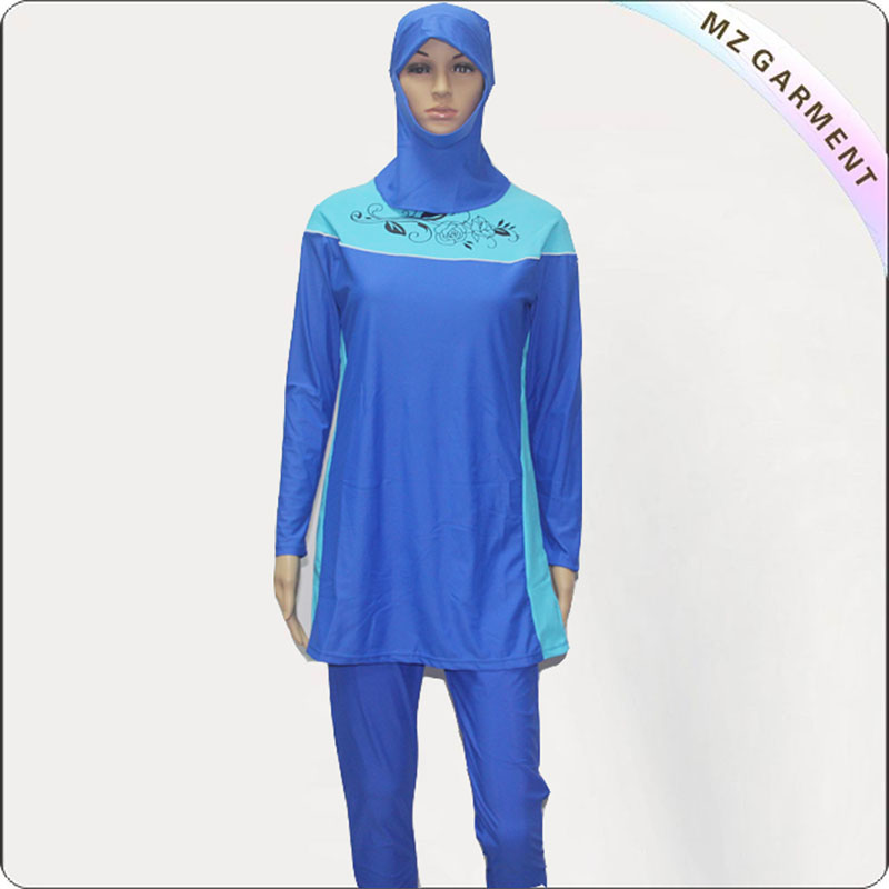Female Turquoise Muslim Swimwear