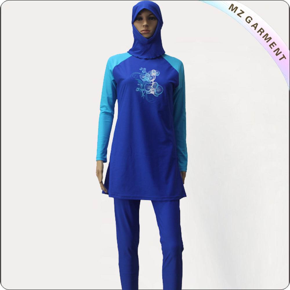Royal & Blue Long Sleeve Muslim Swimwear