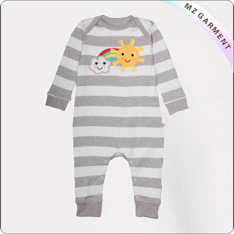 Baby Stripe Rainbow Romper