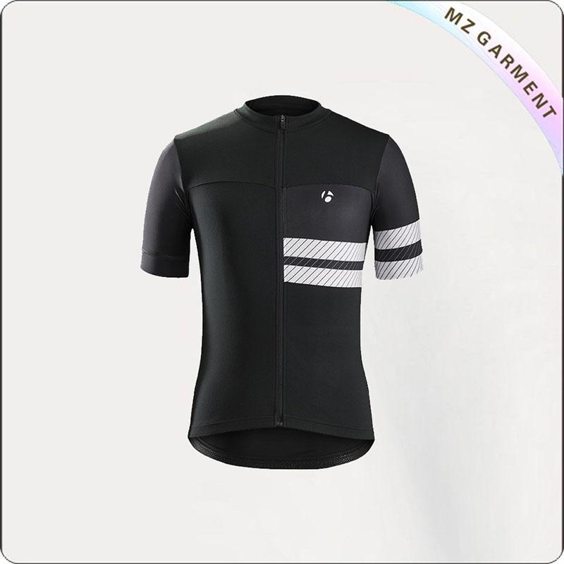 Black & White Short Sleeve Cycling Wear