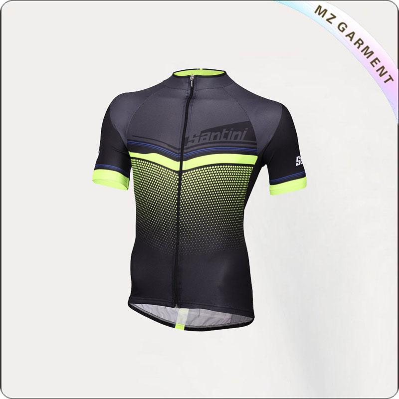 Black & Yellow Active Short Sleeve Jersey
