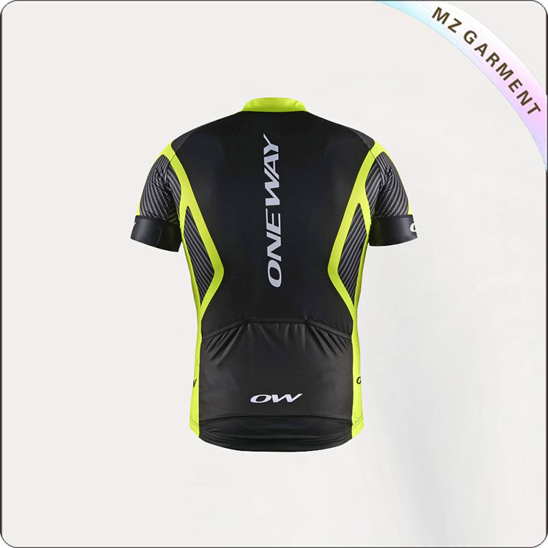 Black & Yellow Short Sleeve Cycling Wear