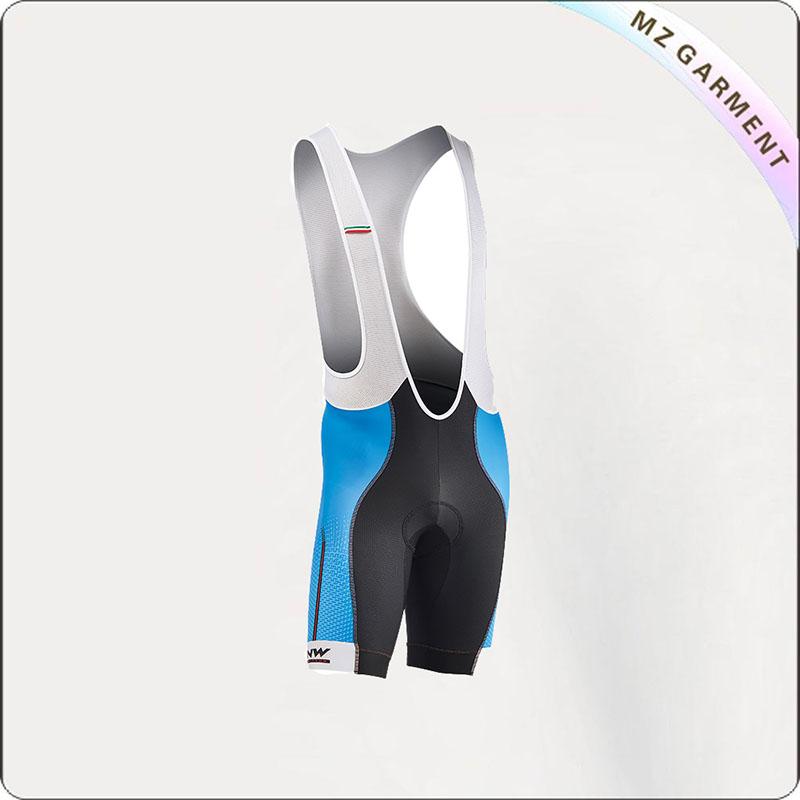 Men's Grey & Blue Jersey Shorts Cycling Wear