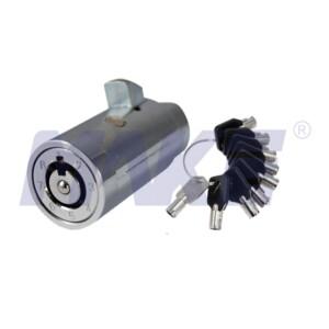 Zinc Alloy Vending Machine Plug Lock, Shiny Chrome, Nickel Plated