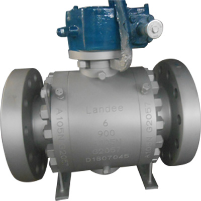 耳轴球阀,ASTM A105N,6英寸,900 LB,RTJ,API 6D,齿轮