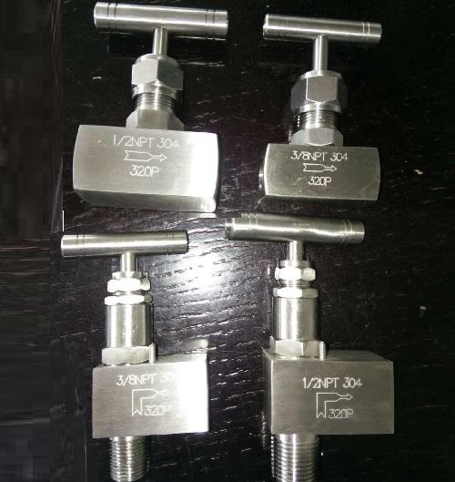 Needle Valve Straight and Angle Type SS 304 32 Mpa