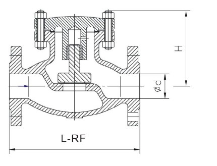 Lift Check jasmine vega: BS 1868 - 1873, API 6D, ASME B16.34